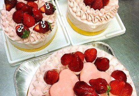 坂本龍馬ゆかりの地で、とってもかわいい笑顔のいちごケーキを見つけたよ!
